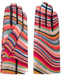 Paul Smith Striped Gloves - Pink