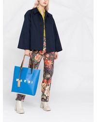 Marni Расклешенная Куртка-рубашка - Синий