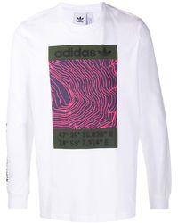 adidas グラフィック ロングtシャツ - マルチカラー