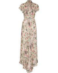 Etro Платье Santa Clara С Рукавами Кап - Многоцветный