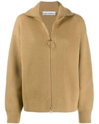 Paco Rabanne Zipped Sweater - Natural