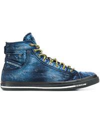 DIESEL High-Top-Sneakers - Blau