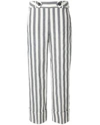 Incotex - Striped Cropped Trousers - Lyst