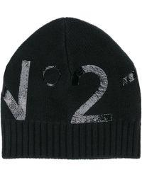 N°21 Шапка Бини С Логотипом - Черный