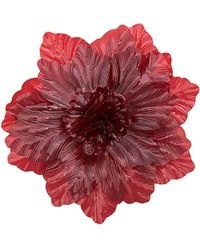 Molly Goddard Oversized Flower Brooch - Red