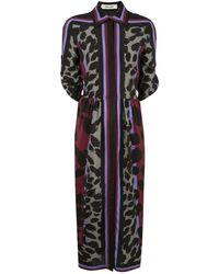 Diane von Furstenberg Sogol Silk Printed Midi Dress - Black