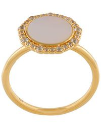 Astley Clarke Mother Of Pearl Luna Ring - Металлик