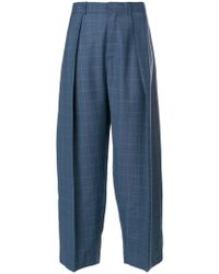 Diesel Black Gold - Checked Wide Leg Trousers - Lyst