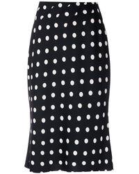 À La Garçonne Pleated A-line Midi Skirt - Black