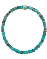 Luis Morais Enameled Evil Eye Bracelet - Blue