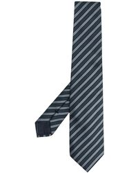 Giorgio Armani Gestreifte Krawatte - Blau