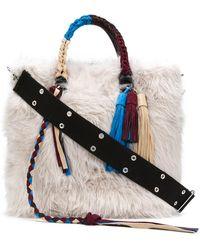 Sacai - Fluffy Wide Clutch Bag - Lyst