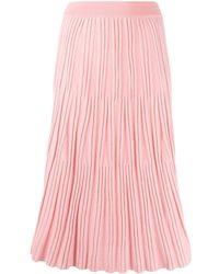 KENZO Pleated-knit Midi Skirt - Pink