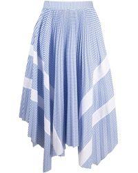Palm Angels ストライプ スカート - ブルー
