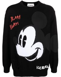 Iceberg Mickey Mouse セーター - ブラック