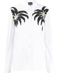 Boutique Moschino White Shirt Fantasy Palme