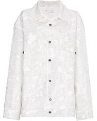 Faith Connexion - Crystal Oversized Denim Jacket - Lyst