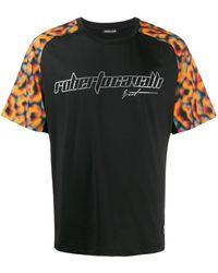 Roberto Cavalli グラフィック Tシャツ - ブラック