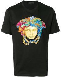 Versace T-shirt à logo Medusa - Noir
