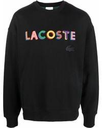 Lacoste L!ive L!VE Sweatshirt mit Stickerei - Schwarz