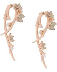 Shaun Leane Cherry Blossom Diamond Hook Earrings - Многоцветный