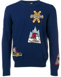 Love Moschino - Skiing Pattern Sweater - Lyst
