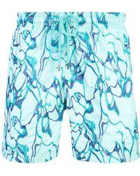Vilebrequin Zwembroek Met Borduursel - Blauw
