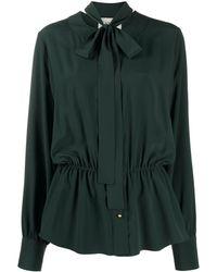 Lanvin Blusa con fiocco - Verde