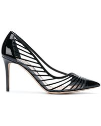 Giorgio Armani - Striped Pointed Court Shoes - Lyst