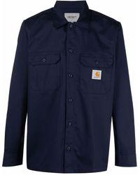 Carhartt WIP Master ロゴパッチ シャツ - ブルー