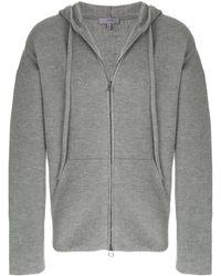 Lanvin Hooded Zip Jacket - Gray