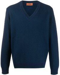 Missoni ジグザグ セーター - ブルー