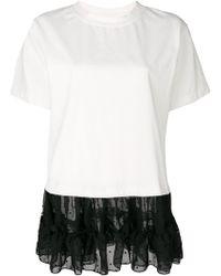 f169715ef3 By Lyst In Hem T Martin Maison Black Margiela Asymmetric Shirt Mm6 zMVpSU
