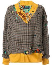 Kolor Check Print Sweater - Multicolour