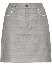 Ganni - Merkel Check Silk And Wool Blend Skirt - Lyst