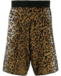 Versace レオパード ショートパンツ - マルチカラー