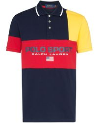 Polo Ralph Lauren Poloshirt in Colour-Block-Optik - Rot