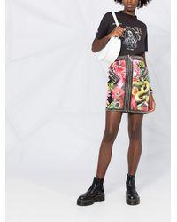 Philipp Plein フローラル ミニスカート - ブラック