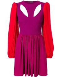 Alexander McQueen - カラーブロック ドレス - Lyst