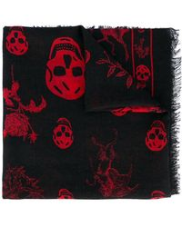 Alexander McQueen - Skull And Badge Scarf - Lyst