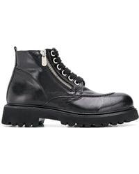 Rocco P レザー ブーツ - ブラック