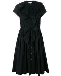 Lanvin - Poplin Ruffle Dress - Lyst