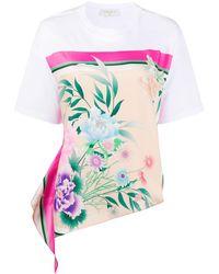 Sandro T-Shirt mit Blumen-Print - Mehrfarbig