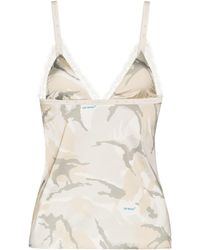 Off-White c/o Virgil Abloh X Browns 50 Camouflage-print Camisole - Multicolor