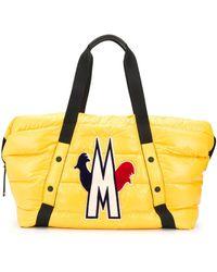 Moncler ロゴ パデッドハンドバッグ - イエロー