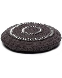 Ganni - クロシェニット ベレー帽 - Lyst