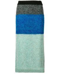Nude - Tri-colour Skirt - Lyst