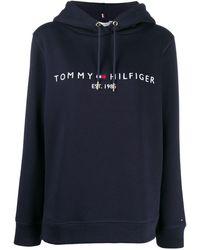 Tommy Hilfiger Худи С Логотипом - Синий