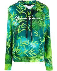 Versace Худи С Принтом - Зеленый