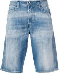 Slim Pantalones Con Azul Cortos Efecto Descolorido 4R3jALq5